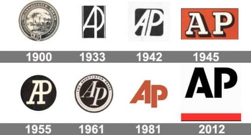 Associated Press AP Logo history