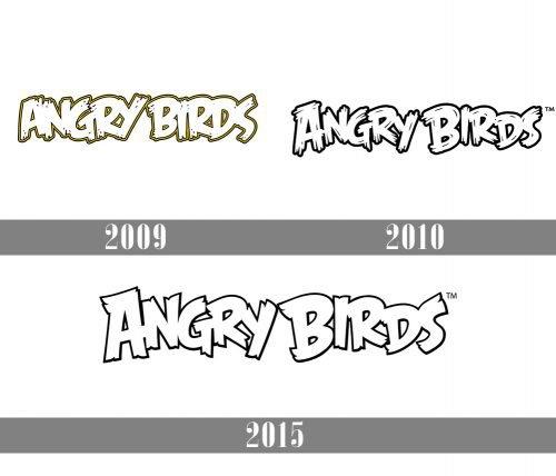 Angry Birds Logo history