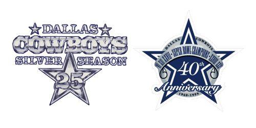 Dallas Cowboys 25 and 40 Anniversary logos