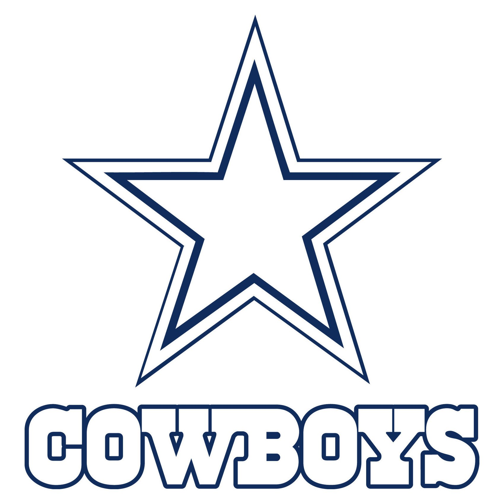 dallas cowboys logo  dallas cowboys symbol meaning Volleyball Player Silhouette Clip Art Cartoon Football Player Clip Art