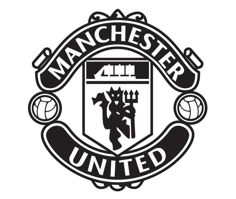 11+ Manchester United Logo Black And Red