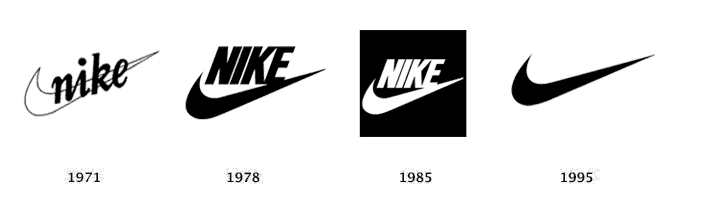 nike logo history and progression