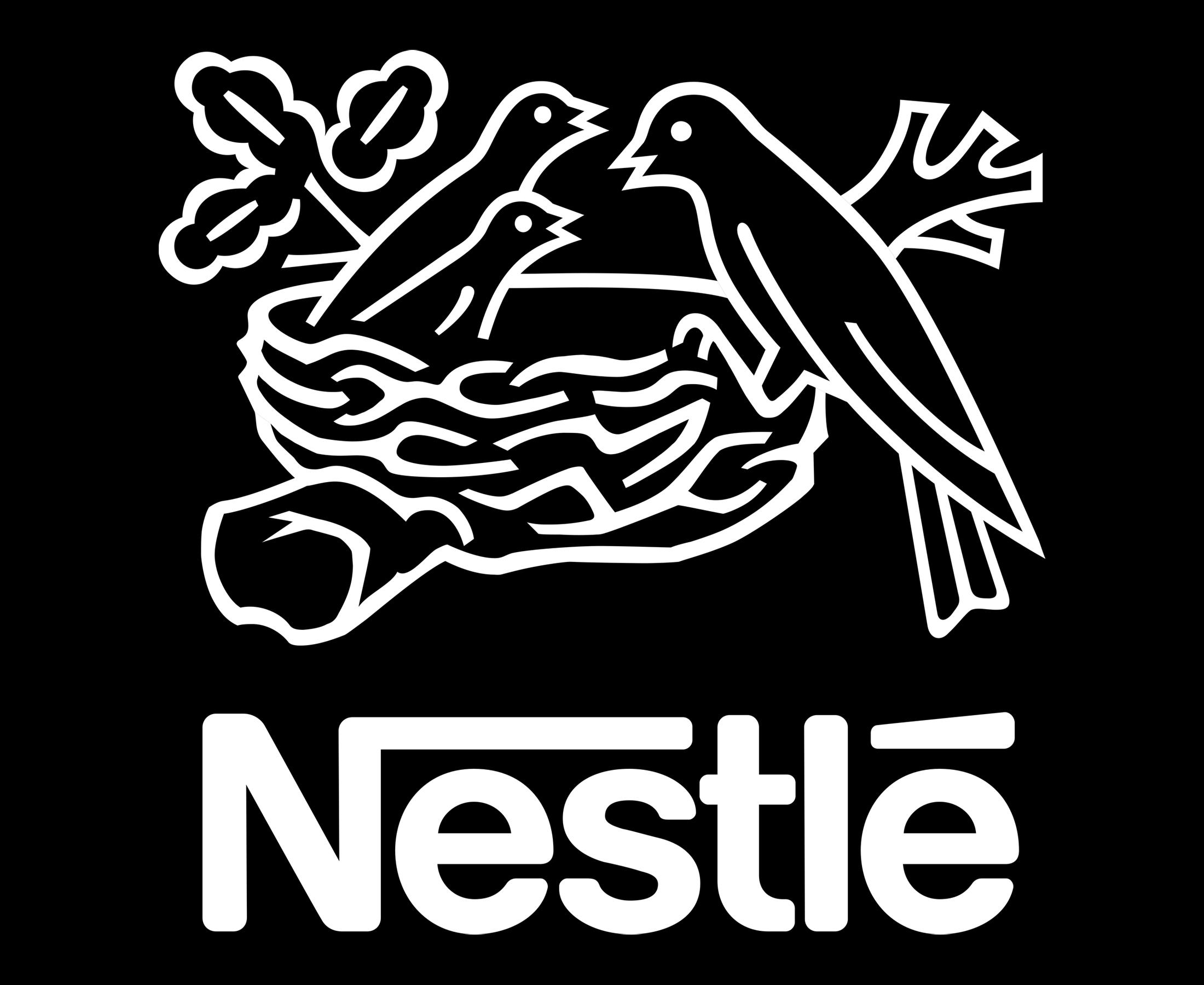 nestle logo png white