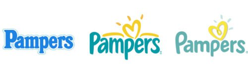 Pampers Logo history
