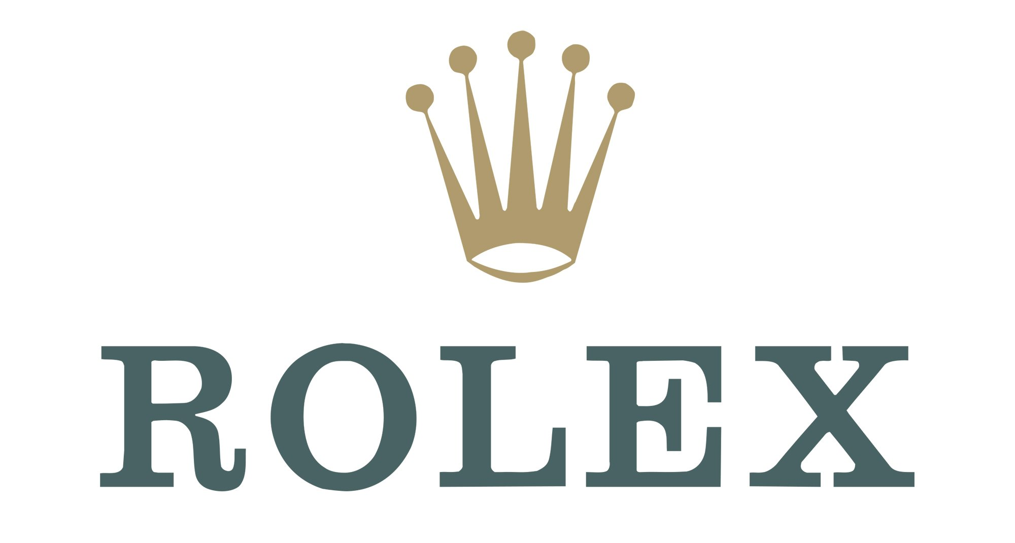 Rolex logo rolex symbol meaning history and evolution rolex emblem the original logo included a golden crown and a green wordmark complemented with a golden outline in 1965 the symbol acquired a bronze hue biocorpaavc Choice Image