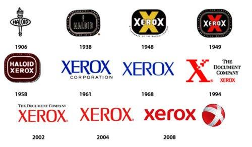 history Xerox logo