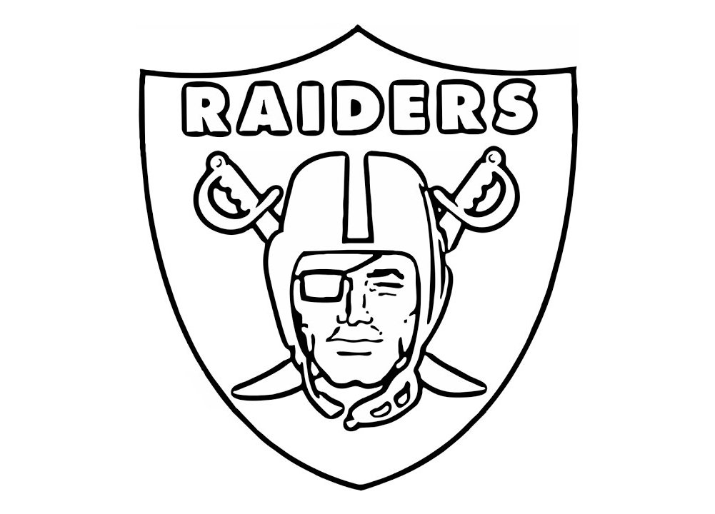 Oakland raiders logo oakland raiders symbol meaning for Oakland raiders logo coloring page