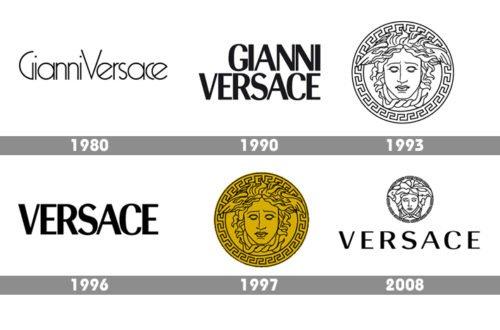 History Versace logo