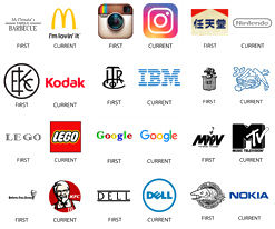 30 logos of world-renowned brands then and now