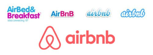 Airbnb Logo history
