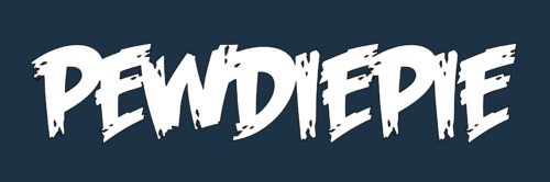 Font PewDiePie logo
