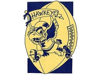 Iowa Hawkeyes Logo 1953