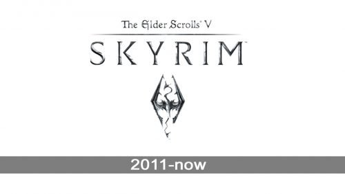 Skyrim logo history