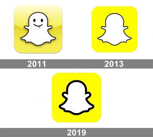 Snapchat Logo history