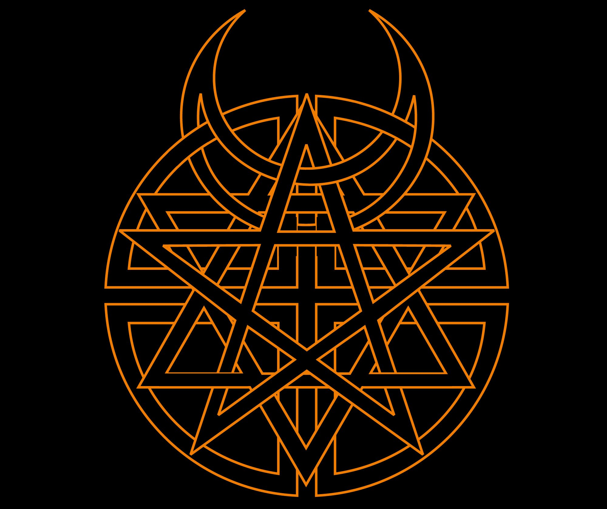 Disturbed logo disturbed symbol meaning history and evolution on the cover of the album four religious emblems are combined in a single logo the emblems include the jewish star of david the christian cross biocorpaavc Choice Image