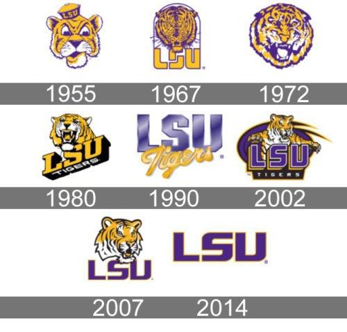 LSU Logo history