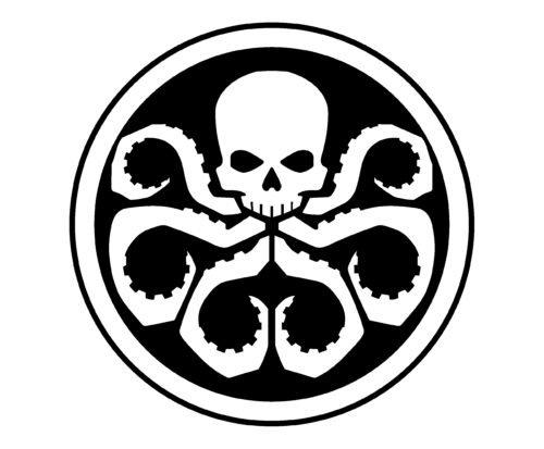 captain america hydra logo