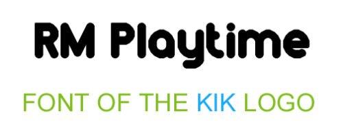 Font Kik Logo