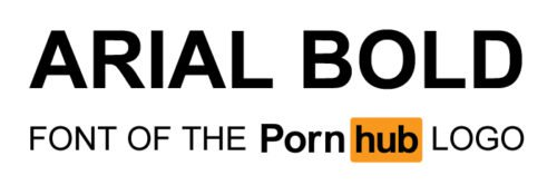 Pornhub Logo font