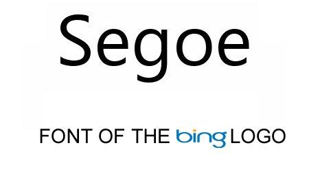 bing logo font