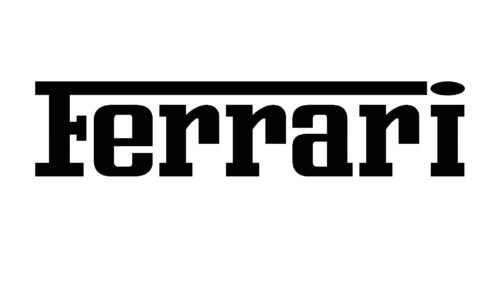 Font Ferrari logo