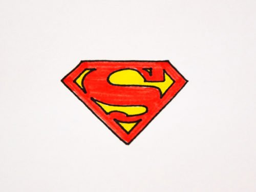 How to draw Superman logo