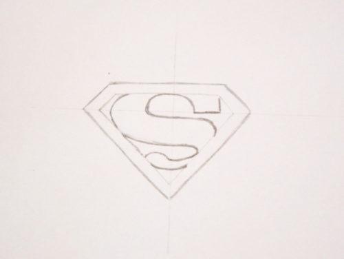 draw Superman logo