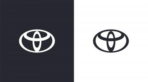 Toyota logo 2020 new 2d Emblem