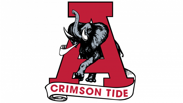 Alabama Crimson Tide Logo 1974