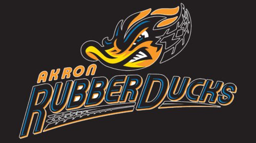 Akron RubberDucks Logo baseball