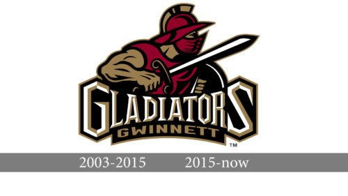 Atlanta Gladiators Logo history