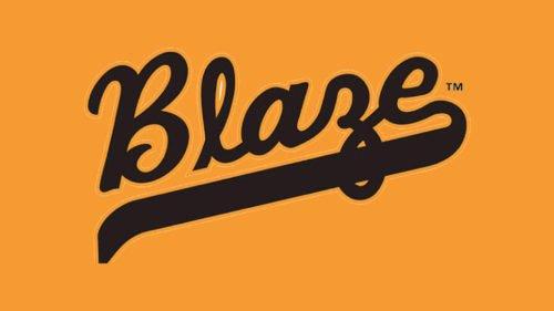 Bakersfield Blaze Logo baseball