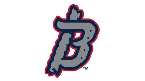 Binghamton Rumble Ponies Logo baseball