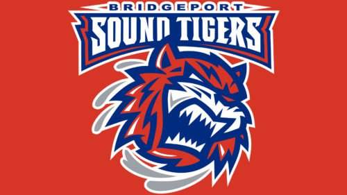Colors Bridgeport Sound Tigers Logo