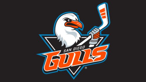 Colors San Diego Gulls Logo