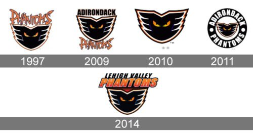 Lehigh Valley Phantoms Logo history