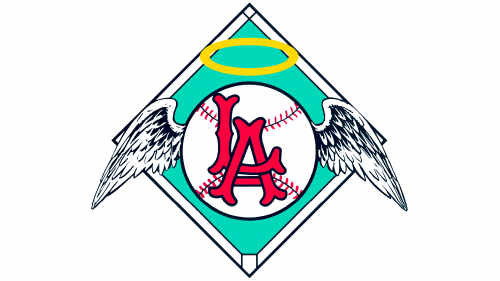 Los Angeles Angels of Anaheim Logo 1961