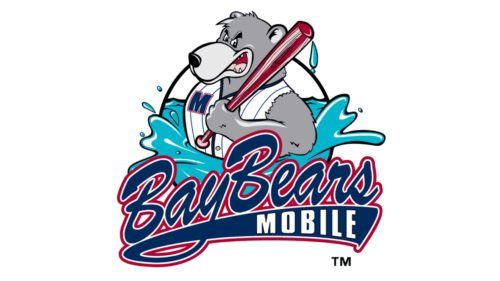 Mobile BayBears Logo baseball