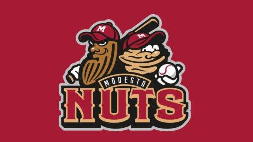 Modesto Nuts Logo baseball
