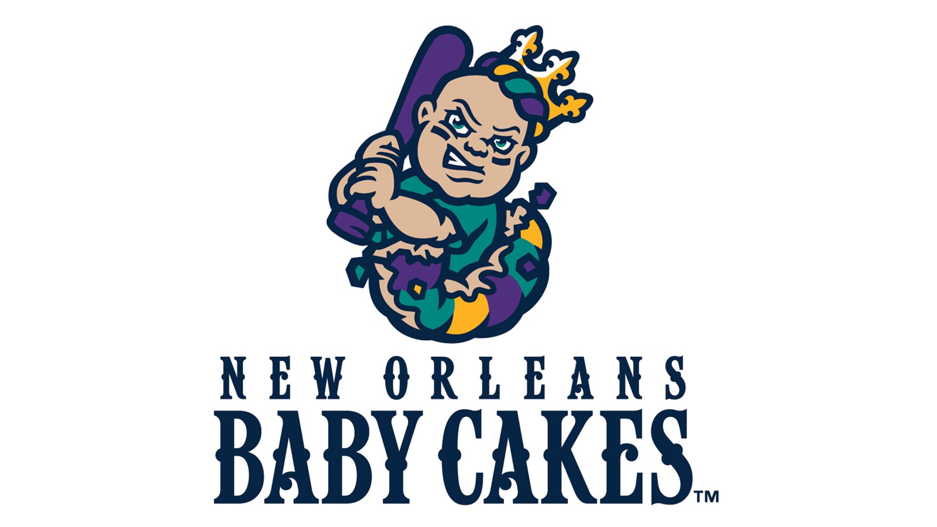 New Orleans Baby Cakes Logo Baseball