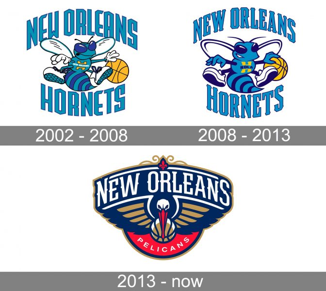 New Orleans Pelicans Logo history