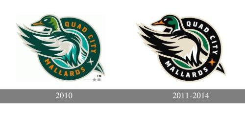 Quad City Mallards Logo history