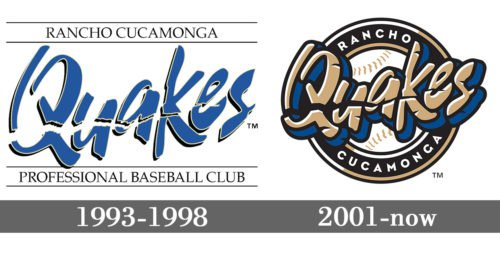 Rancho Cucamonga Quakes Logo history