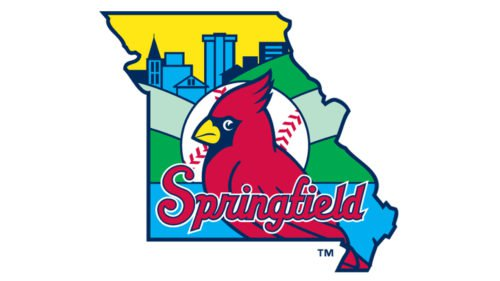 Springfield Cardinals Logo baseball