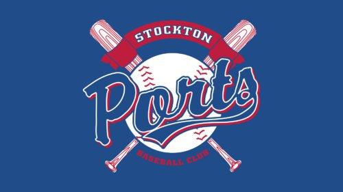 Stockton Ports Logo baseball