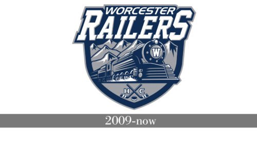 Worcester Railers HC Logo history