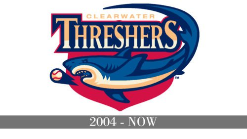 Clearwater Threshers Logo history