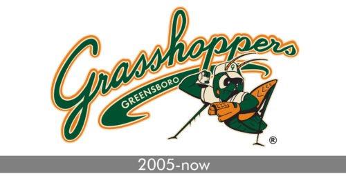 Greensboro Grasshoppers Logo history