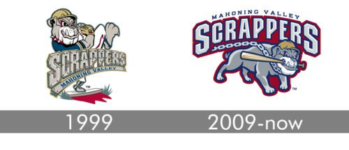 Mahoning Valley Scrappers Logo history
