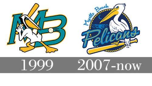 Myrtle Beach Pelicans logo history